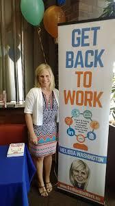 Melissa Washington's Book Get Back to Work